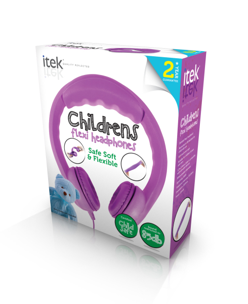 iTek Flex Earphones Purple