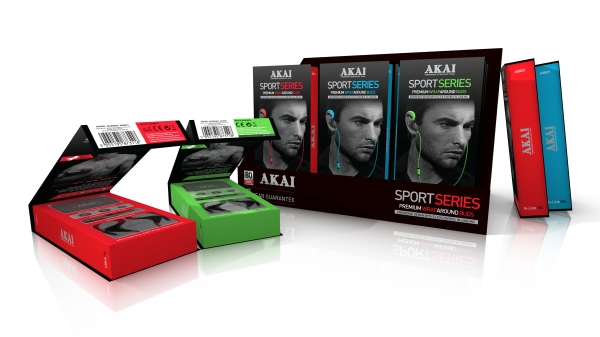 AKAI Mens Sports Earphones