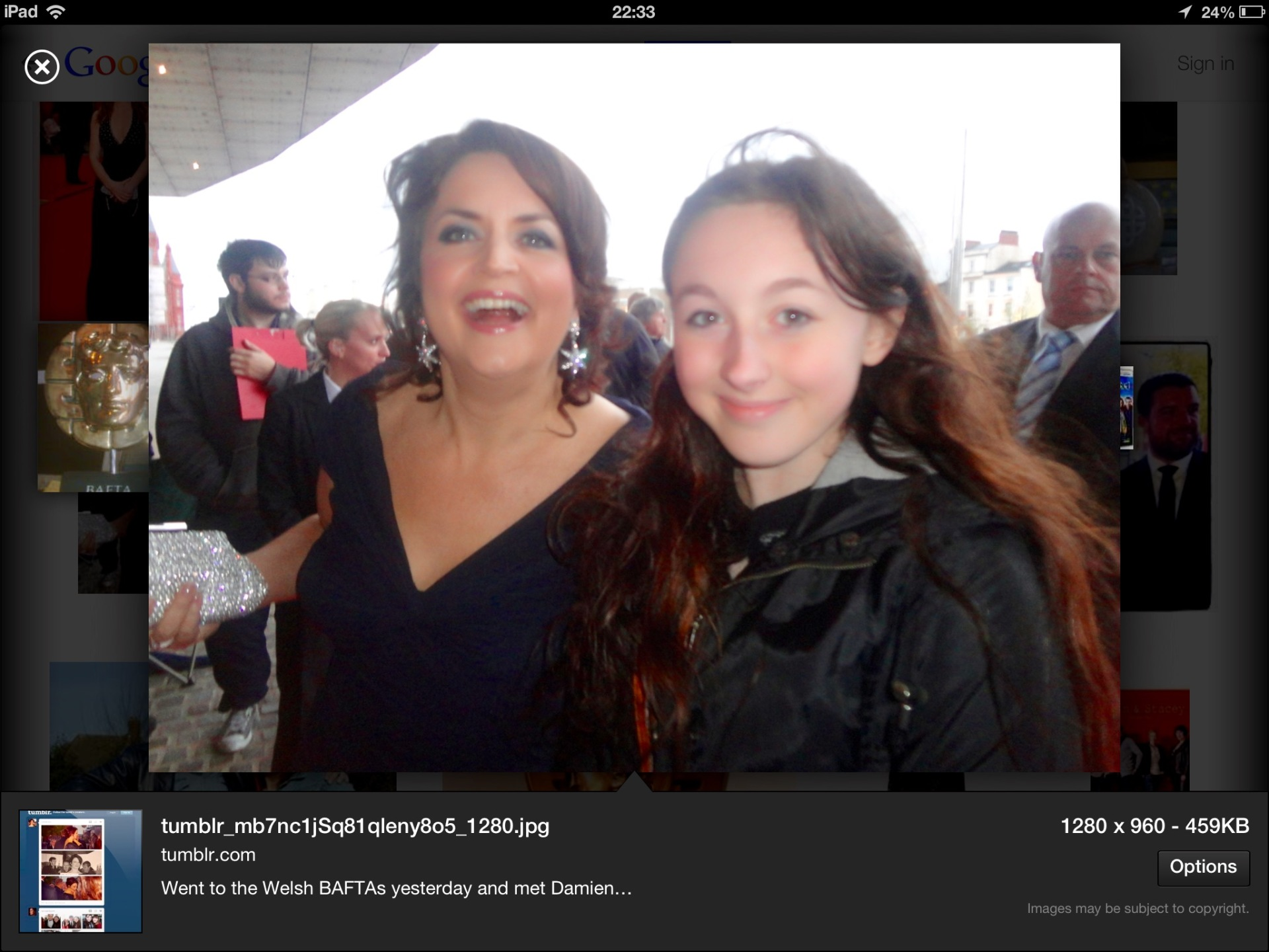 Ruth Jones bafta night
