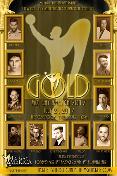 Mr Gay America GOLD Contestant Poster