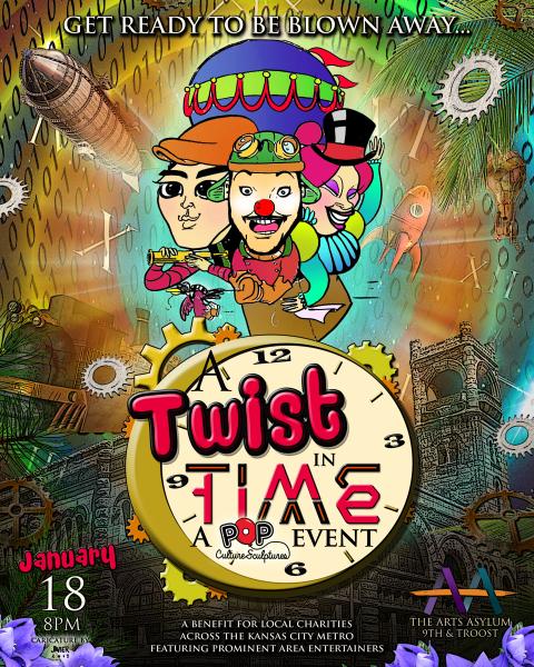 Twist In Time Pop Culture Sculptures Event