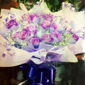 Purple Roses Hong Kong style Bouquet