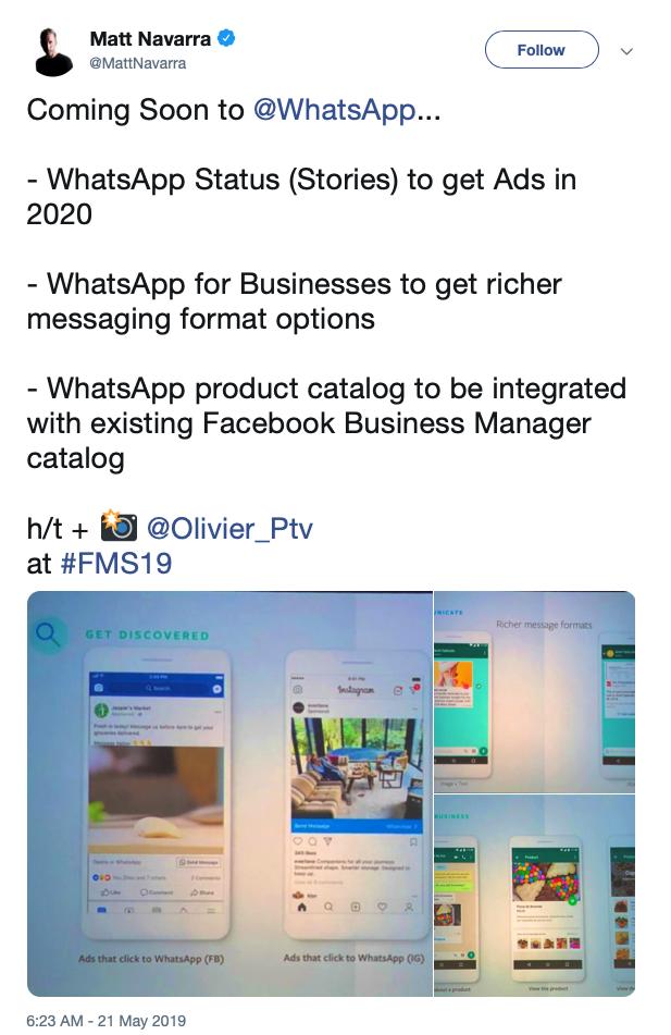 Whatsapp Introducirá Anuncios Forzados A Partir Del 2020