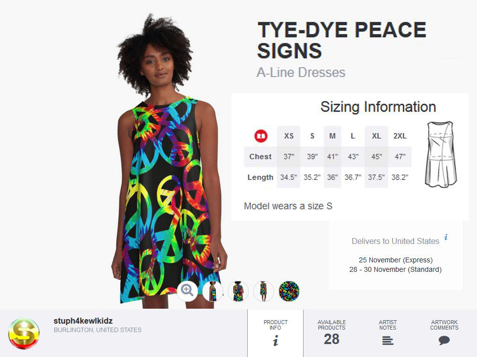 tyedye,peace,boho,gypsy,dress,womanscothing,clothing,stuph4kewlkidz,giftidea,fashion,60s