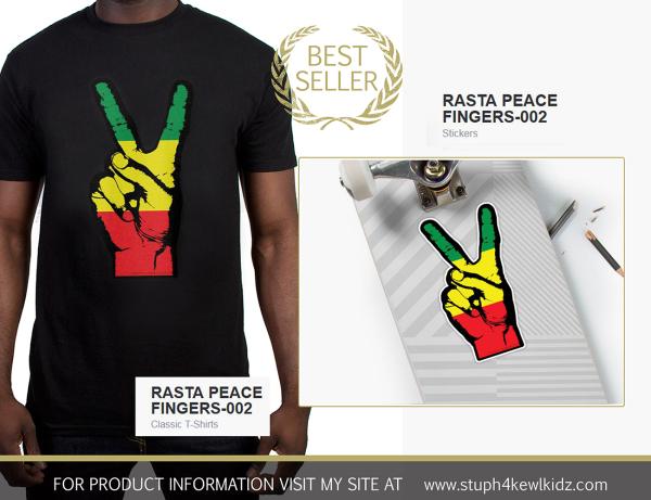 #stuph4kewlkidz, rasta, peace, symbol, reggae, rastafari, music, africa, jamaica, dancehall, tshirt, sticker