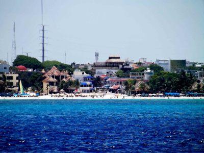 La isla de Cozumel desde el avión