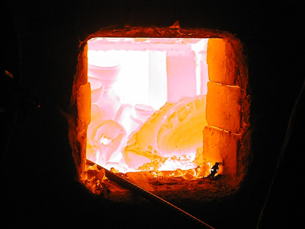 Firing inside kiln