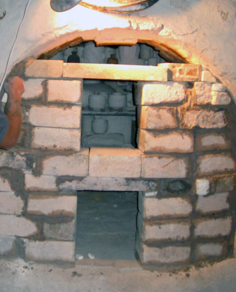 First Anagama Kiln being built
