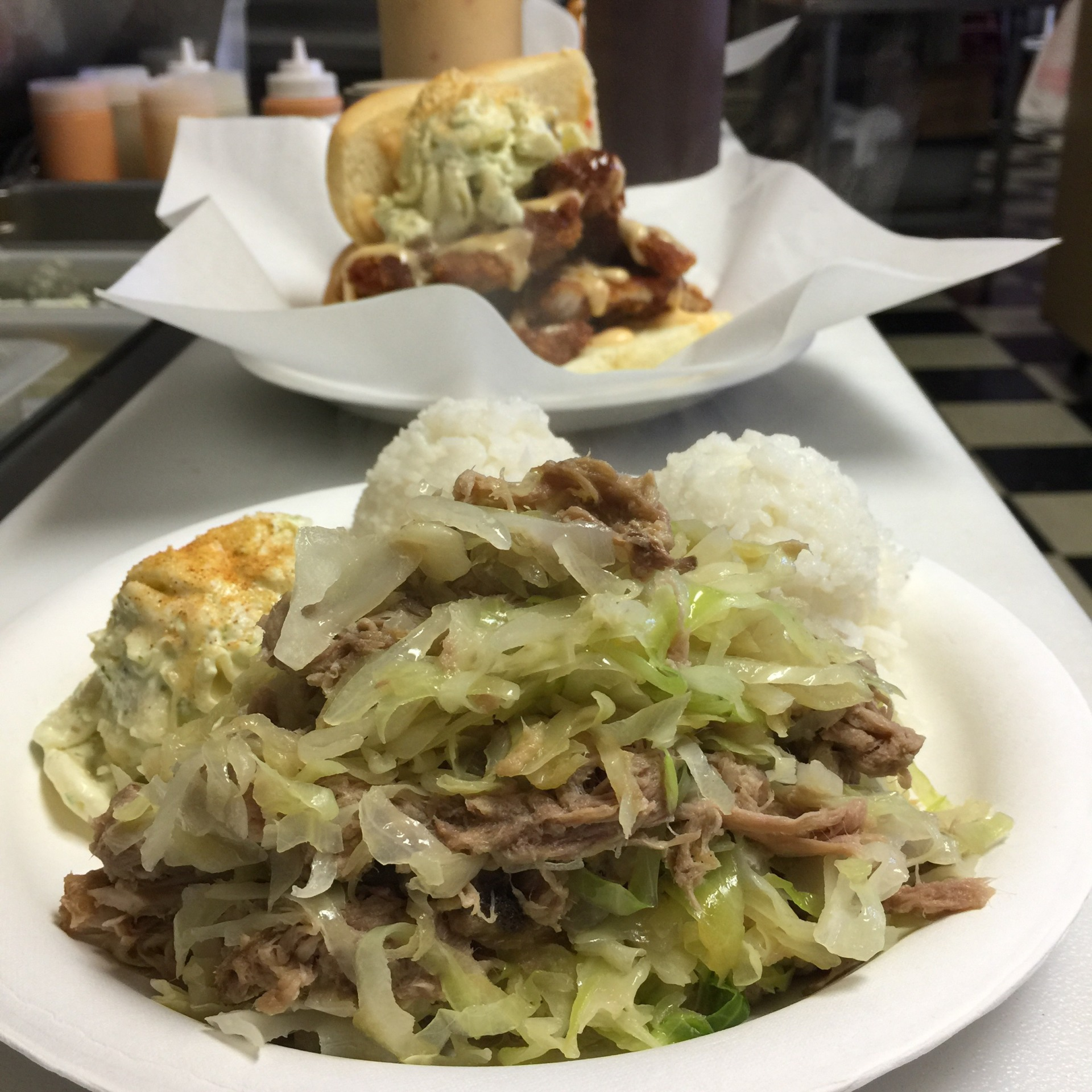 Kalua Pork & Cabbage  $12.95/$7.95