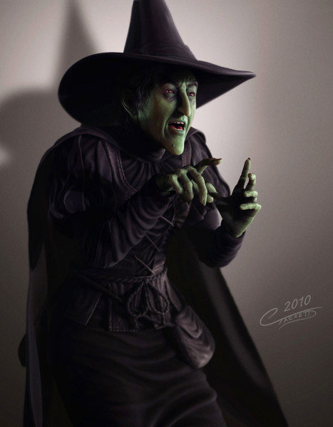 Wicked Witch - Digital Sculpture
