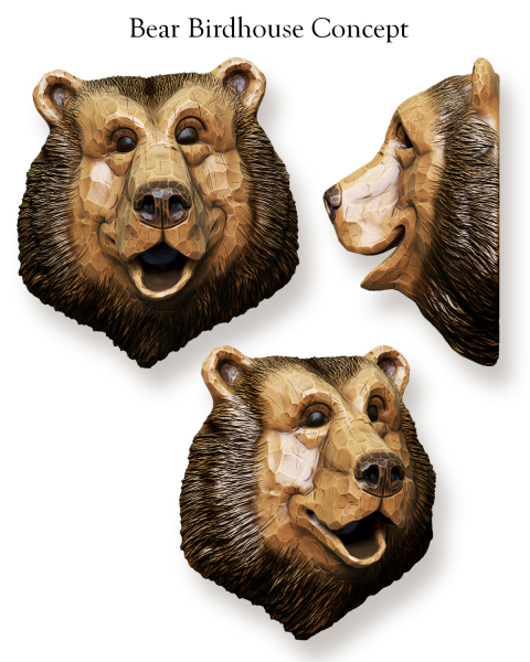 Bear Head Birdhouse