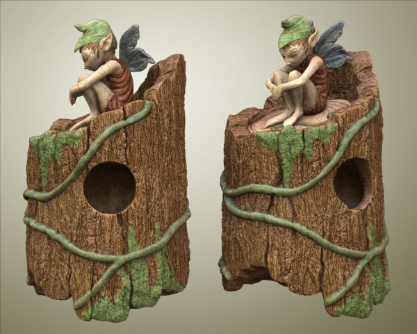 Sitting Fairy Birdhouse