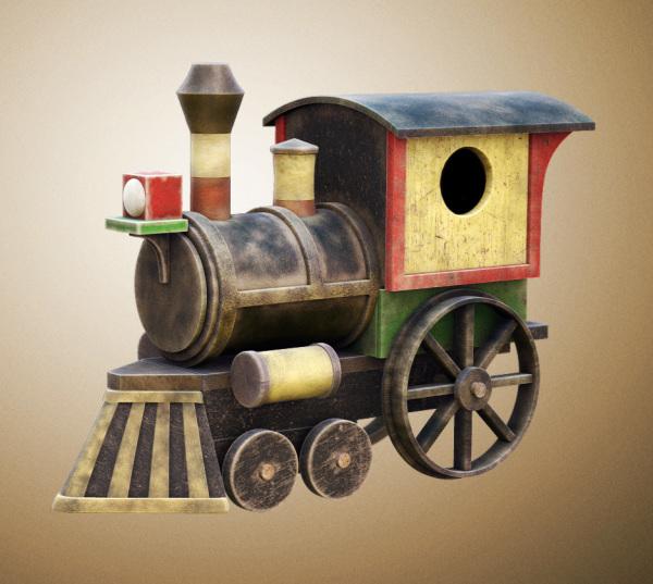 Vintage Toy Train Birdhouse