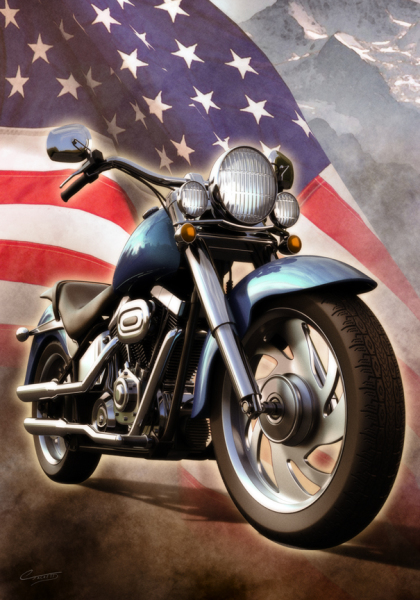 Patriotic Motorcycle