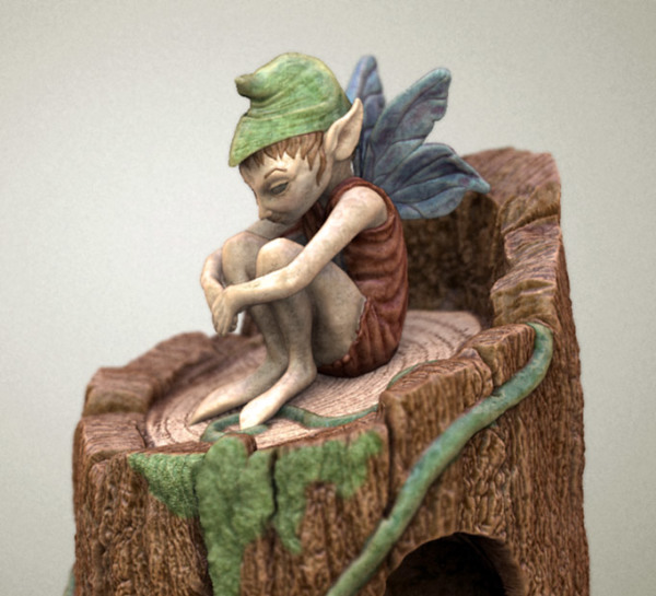 Detail for Sitting Fairy Birdhouse
