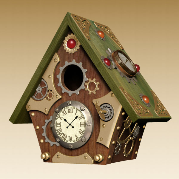 Steampunk Inspired Birdhouse 1