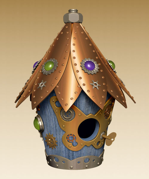 Steampunk Inspired Birdhouse 2