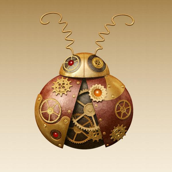 Steampunk Ladybug Design