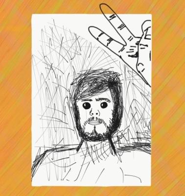 art, illustration, self portrait, doodle, selfie, peace, love