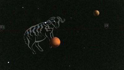 Mars in Aries and the Dark side of the Moon