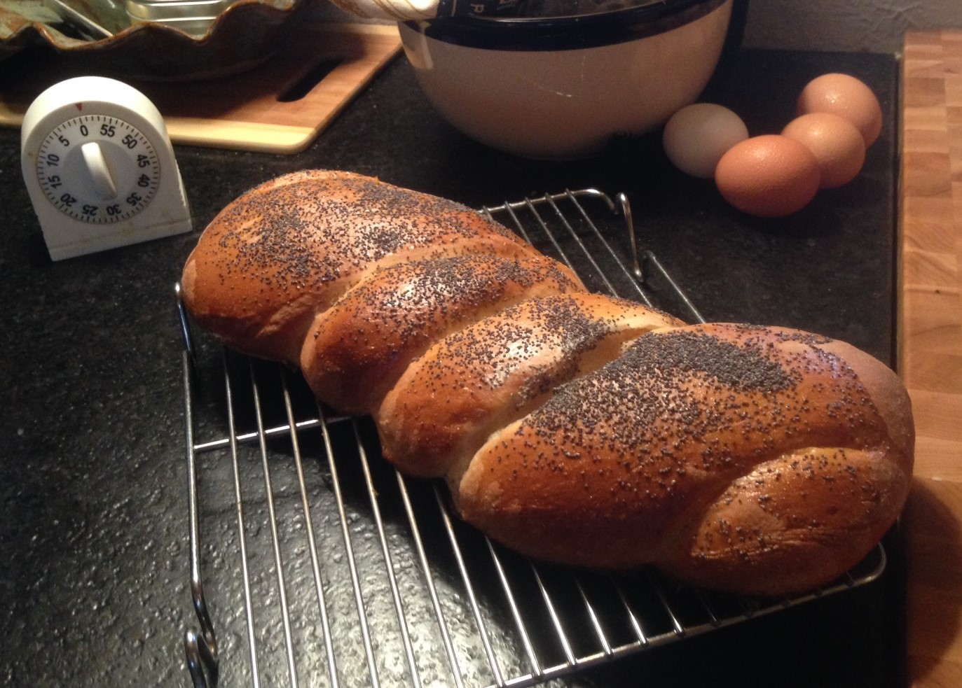 Braided Loaf with Poppy Seeds