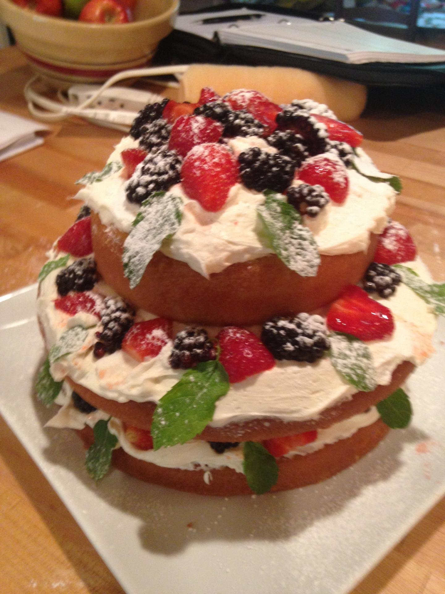 Naked Cake, artist cake