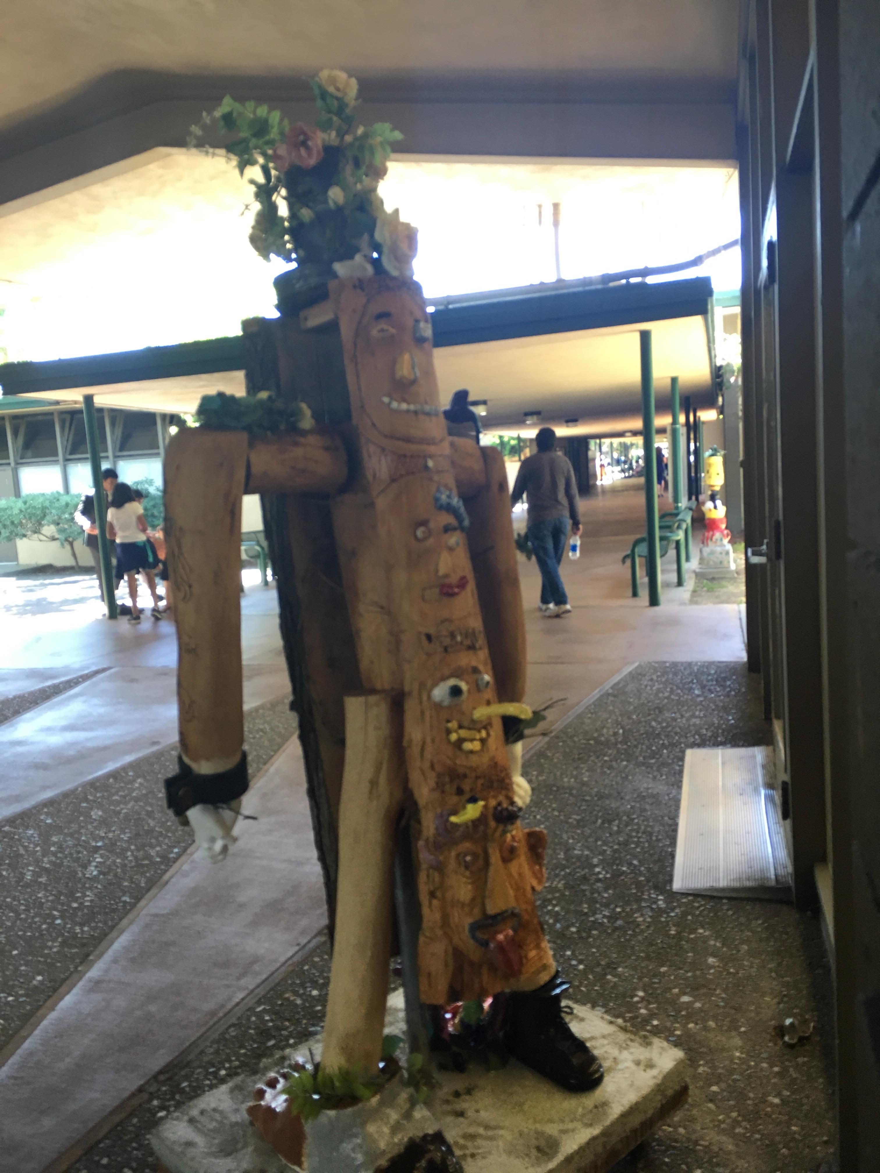 totem pole 1 @ Harker School, San Jose, CA