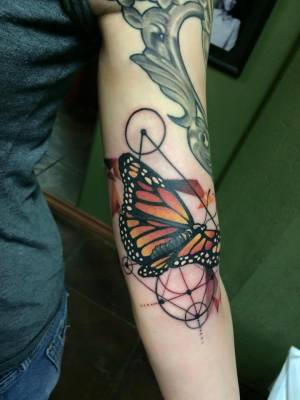 butterfly, tattoo, art, artnouveau, neotraditional, nakota, losangeles, longbeach
