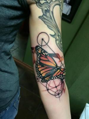 butterfly, tattoo, art, artnouveau, neotraditional, nakota, losangeles, longbeach
