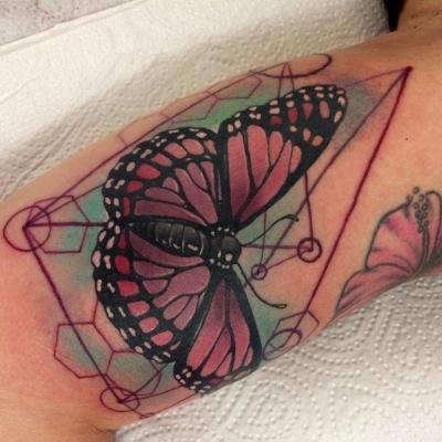 butterfly, tattoo, art, geometric, pattern, love, butterflytattoo, realism