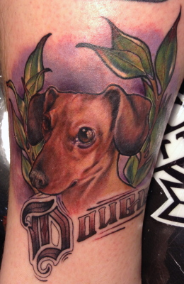 Dog tattoo, tattoo, pet portrait