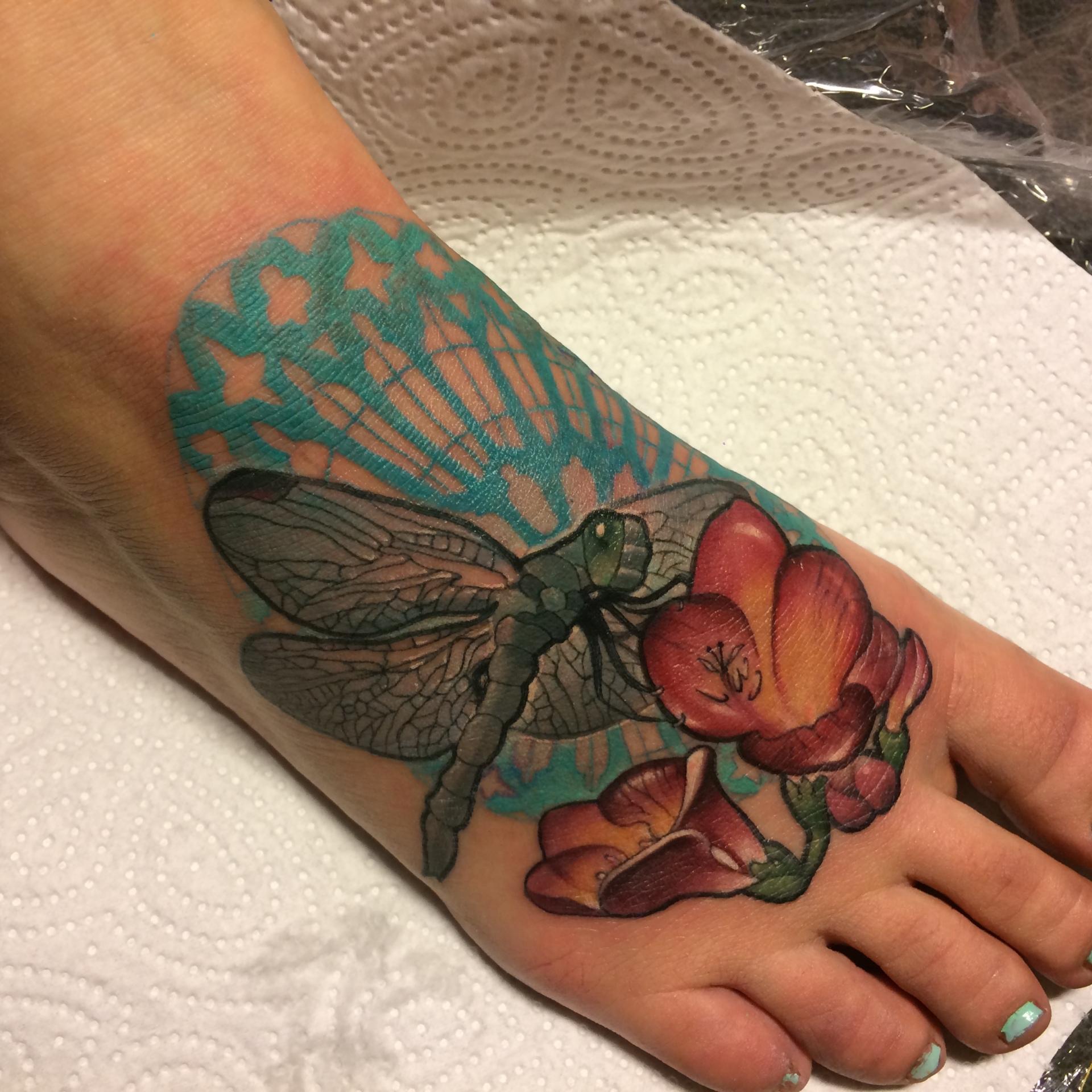 mandala, mandala tattoo, dragonfly, nakota garza, art nouveau