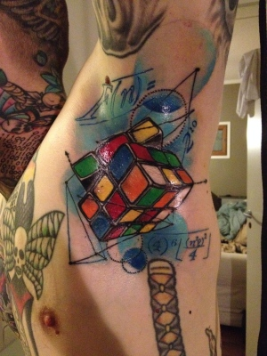 rubixcubetattoo, art, armpit tattoo