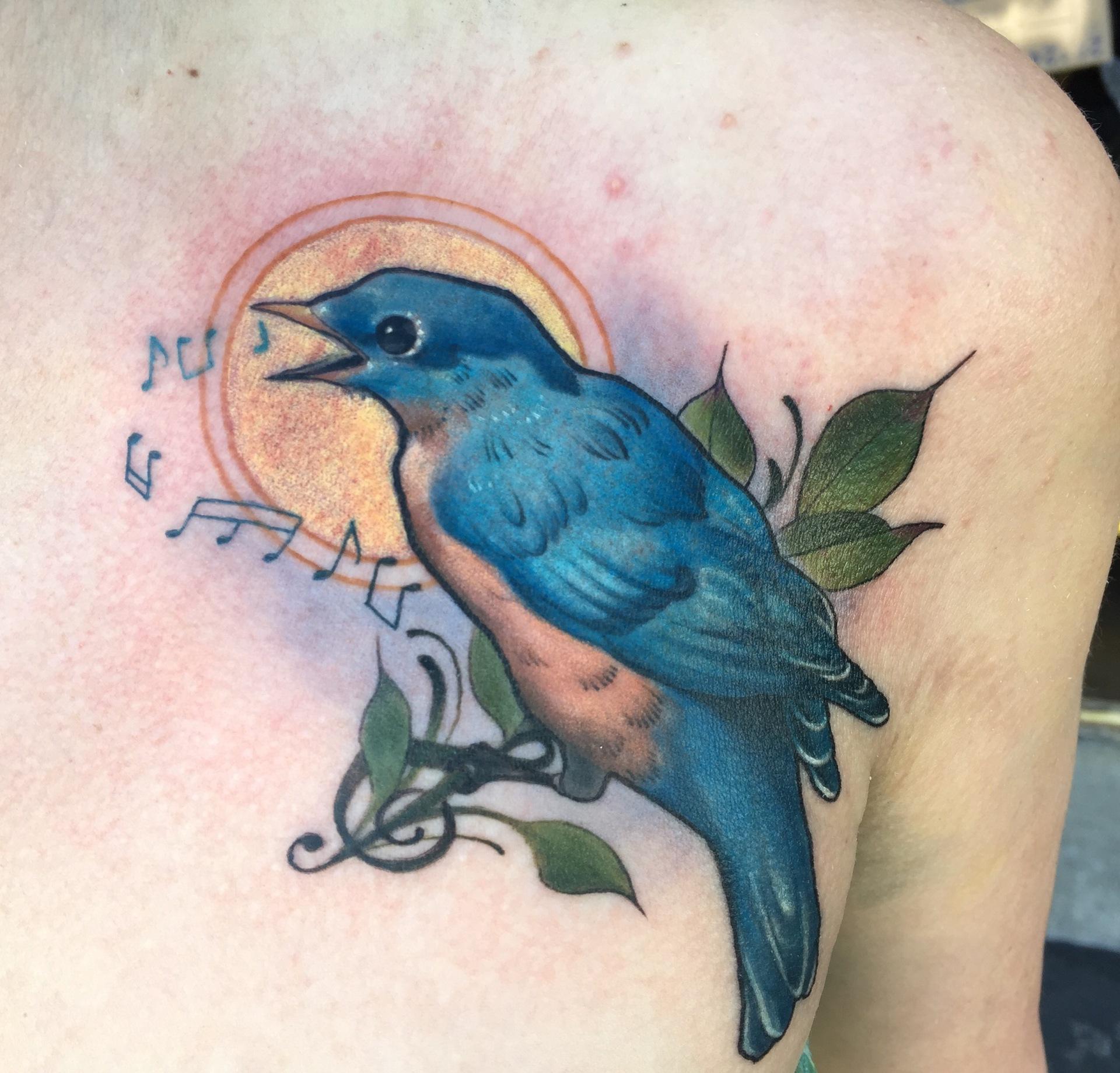 songbird, birdtattoo, put a bird on it, neotraditional tattoo, neotraditionalbirdtattoo