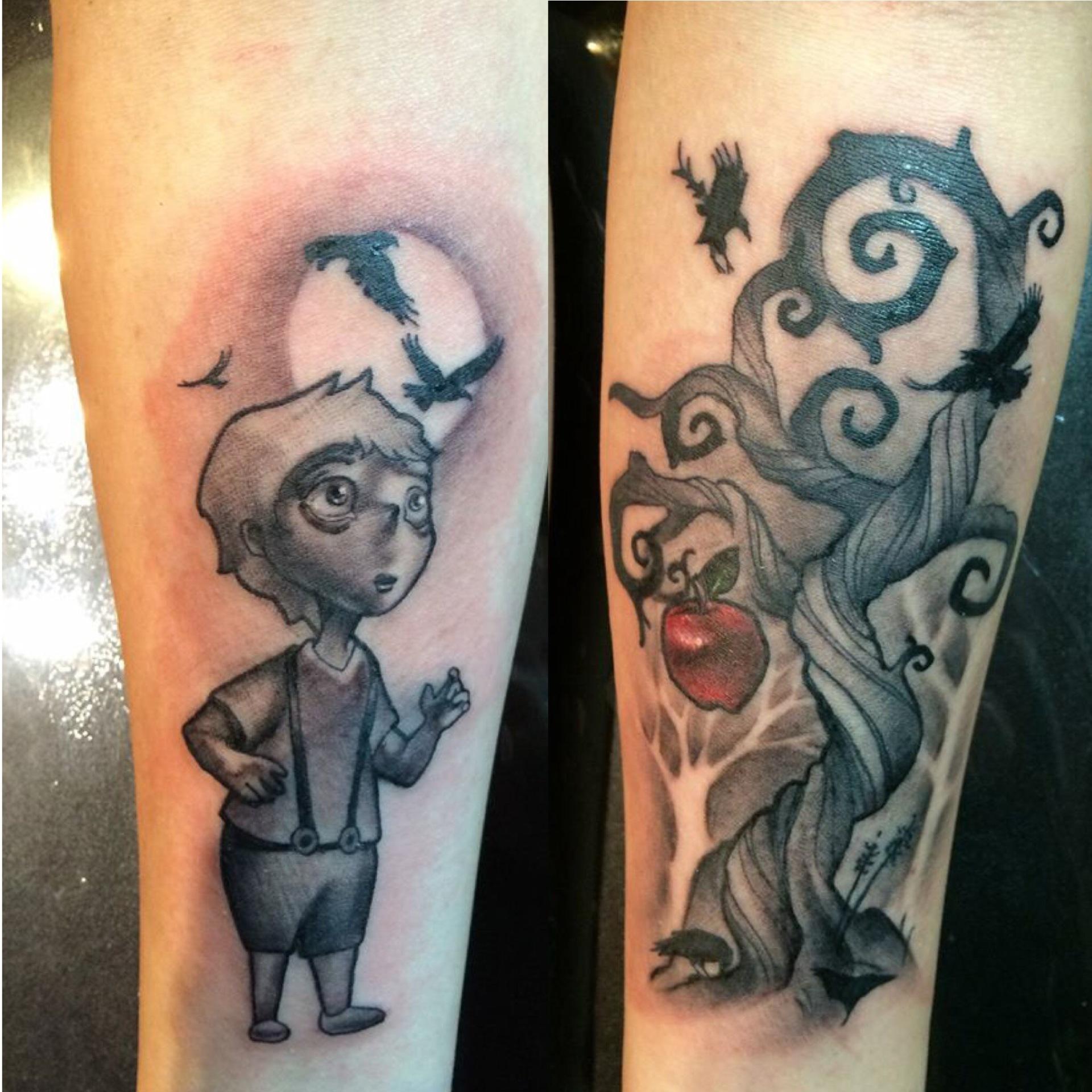 tim burton, giving tree, tattoo, art, dark, spooky
