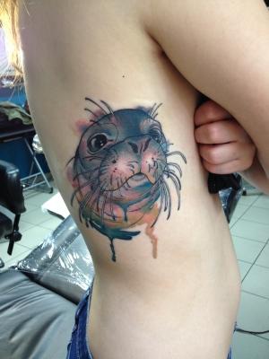 watercolor, watercolortattoo, tattoo, art, abstract, love, makeup artist, cute, splashy
