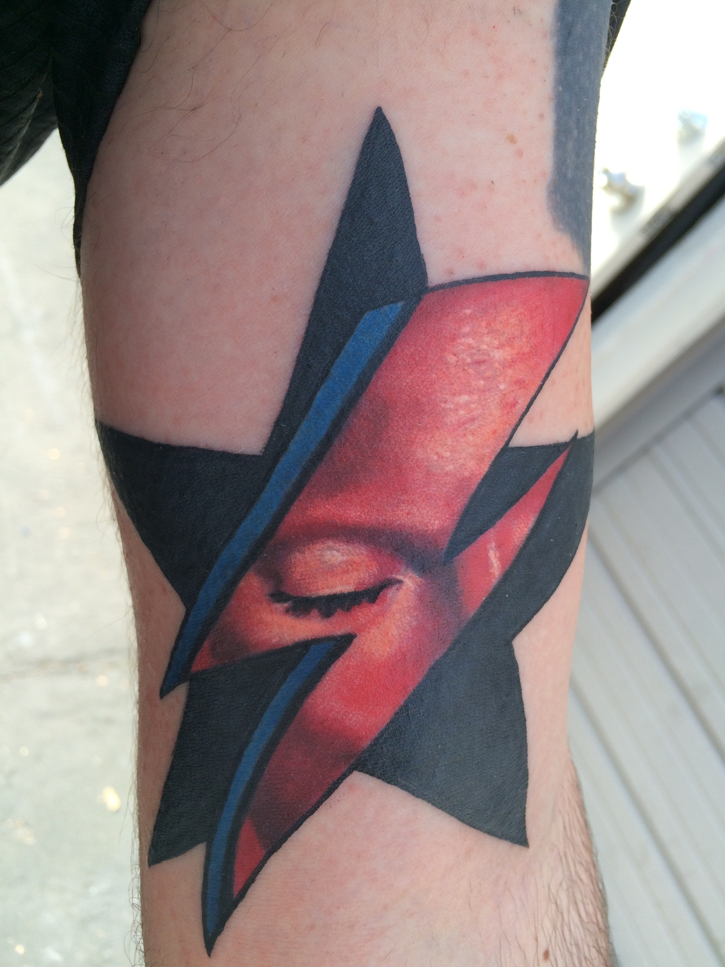 David bowie, tattoo, ziggy stardust tattoo,