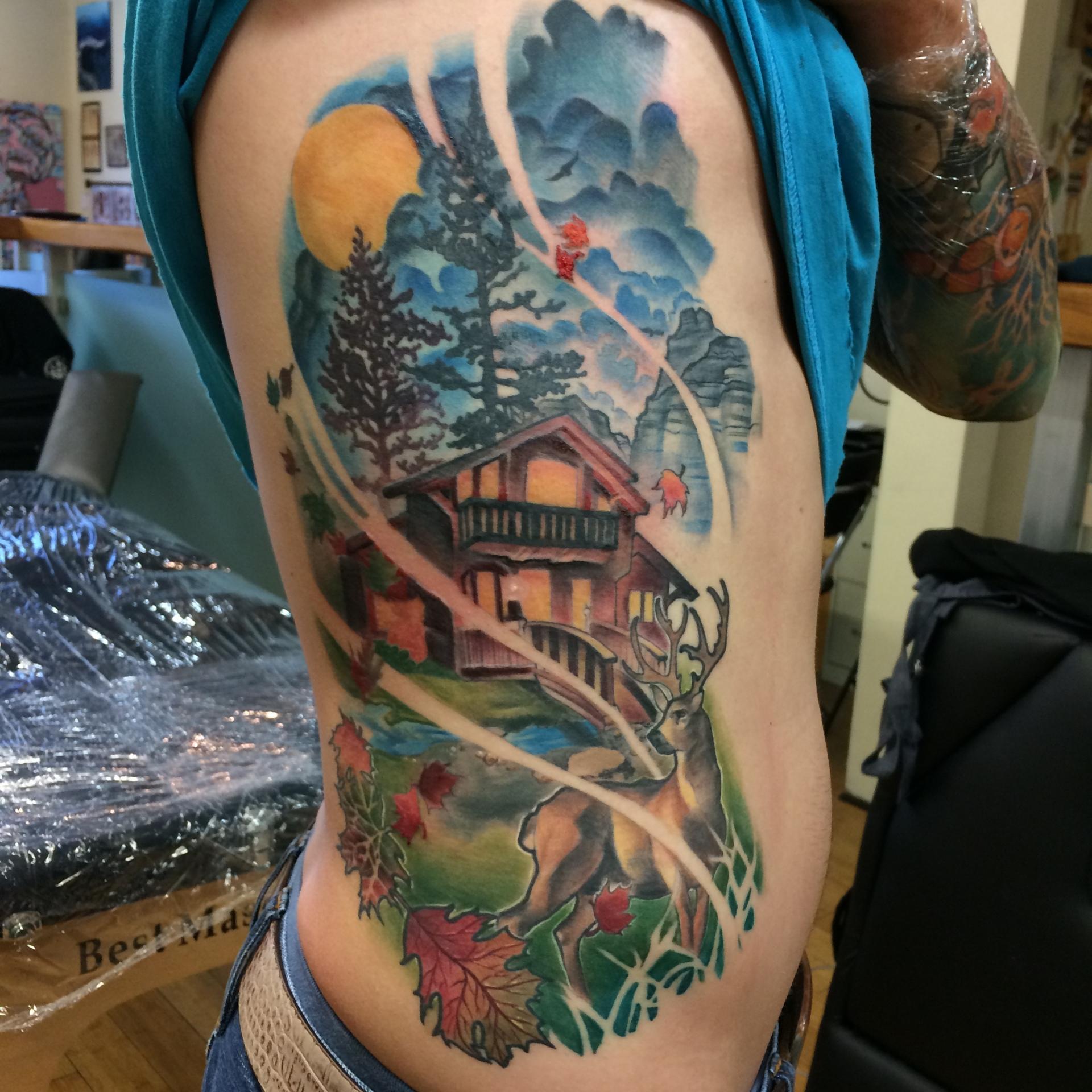 nature tattoo, Rose, roses, tattoo, art, realism rose, pretty, beautiful, floral, floral tattoo, orange county tattoo, nakota garza