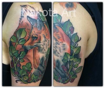 neotraditional tattoo, tattoo, art, realism rose, pretty, beautiful, floral, floral tattoo, orange county tattoo, nakota garza