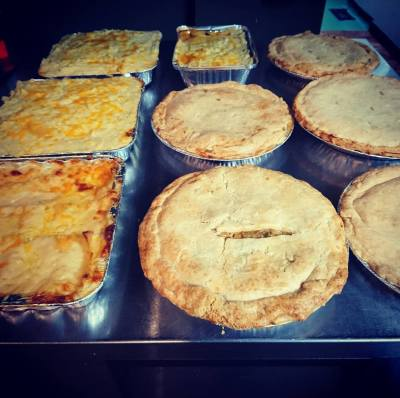 Homemade meat and fruit pies