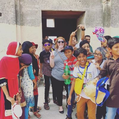 Day 59, That time I was mobbed by school children in India and asked to take a picture....