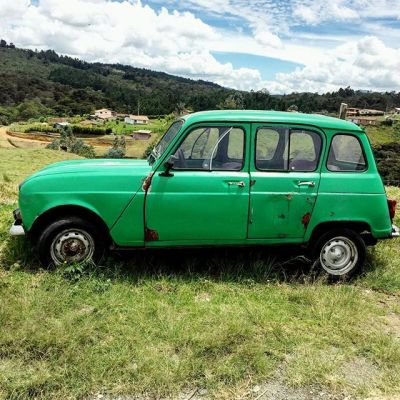 Day 140, The coolest car in Santa Elena.