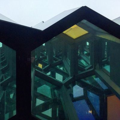 Day 284, Looking up, at the Harpa