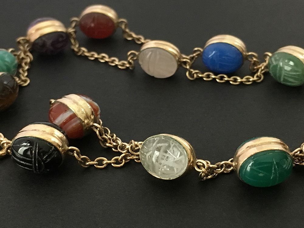 Vintage Double-Scarab Necklace by WRE