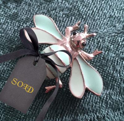 GEM-CRAFT Enamel Bee Brooch $12