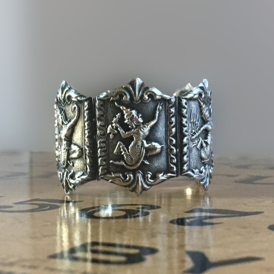 Siam Silver Large Six-Panel Bracelet $125