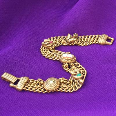 Goldette N.Y. Vintage Victorian Revival Bracelet