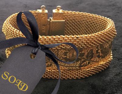 Hobe Gold Toned Mesh Bracelet $30