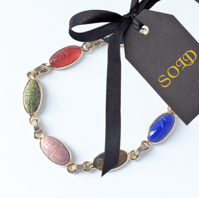 Scarab Bracelet 12k Gold Filled $35