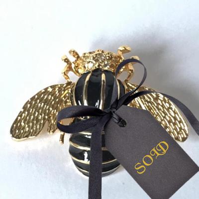 Gerry's Black Enamel  Bee Brooch